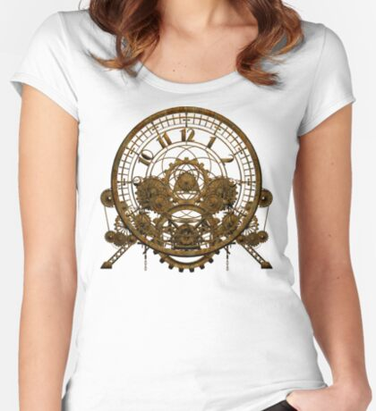 Vintage Steampunk Time Machine #1 Fitted Scoop T-Shirt