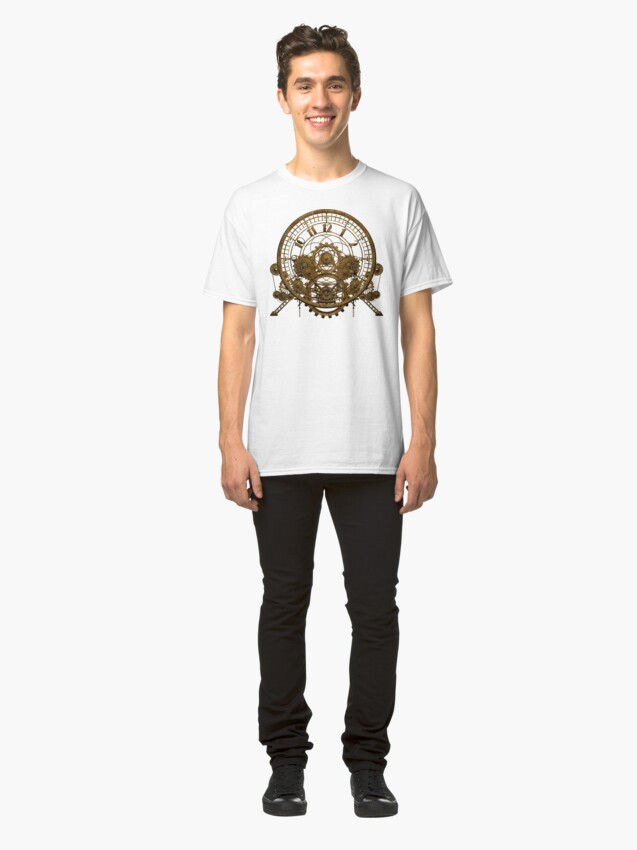 Alternate view of Vintage Steampunk Time Machine #1 Classic T-Shirt