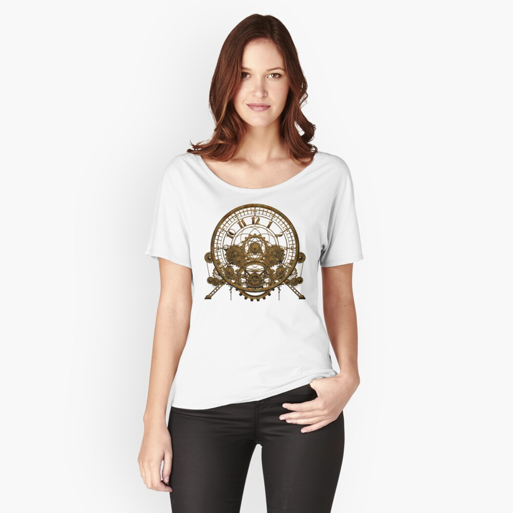 Vintage Steampunk Time Machine #1 Relaxed Fit T-Shirt