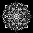 White Ornate Floral Mandala by artonwear