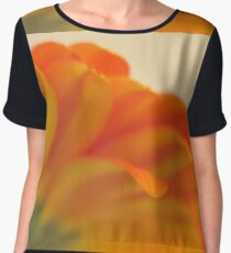 Orange Gerbera Daisy 2, As Is Women's Chiffon Top