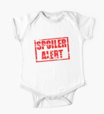 Spoiler alert red rubber stamp effect One Piece - Short Sleeve