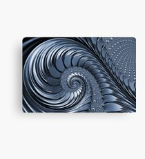 Cyan Scrolls Abstract Canvas Print