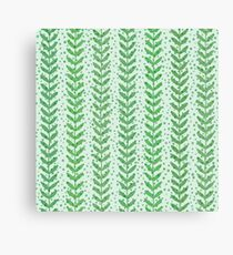 Leaf seamless  transparent pattern. Nature  fresh  background. Canvas Print