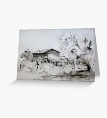 Old Shearing Shed, Forbes, NSW Greeting Card