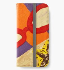 Beach Towel with Glasses, Seashell, and Starfish iPhone Wallet/Case/Skin