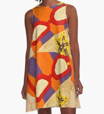 Beach Towel with Glasses, Seashell, and Starfish A-Line Dress