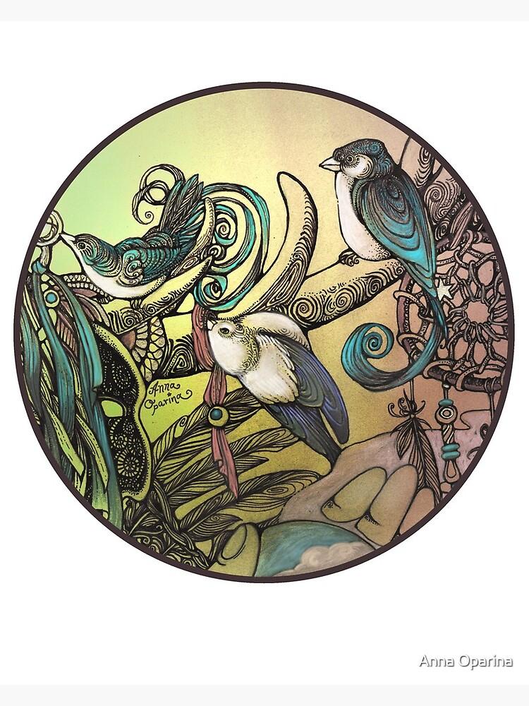 Three birds by Oparina