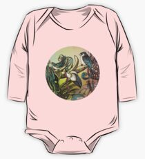 Three birds Long Sleeve Baby One-Piece