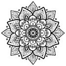 Black On White Floral Mandala by artonwear