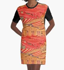 Dining Hall and Photographer Graphic T-Shirt Dress