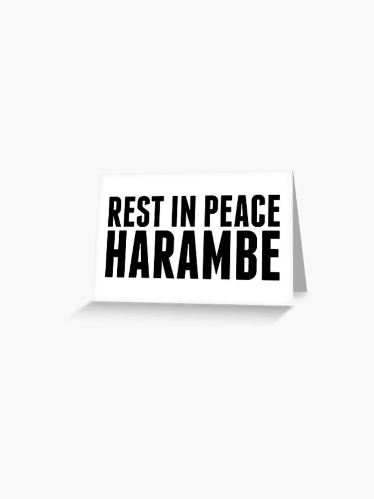 Tarjetas De Felicitación Descanse En Paz Harambe De Lightsyde