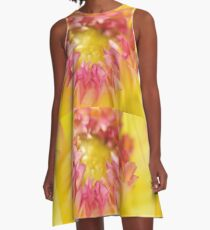Pink and Yellow Dahlia, As Is A-Line Dress