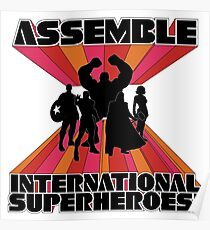 International Superheroes Poster