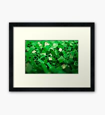 Green Lego Blocks Poster/Pillow/Stickers Framed Print