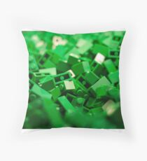 Green Lego Blocks Poster/Pillow/Stickers Throw Pillow