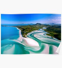 Hill Inlet - Whitsundays Queensland, Australia Poster