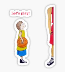 Let's play basketball! Sticker