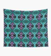 Teal and Mauve Tribal Print Wall Tapestry