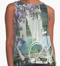 White Bike and Laundry Contrast Tank