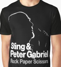PETER GABRIEL STING PAPER SCISSORS Graphic T-Shirt