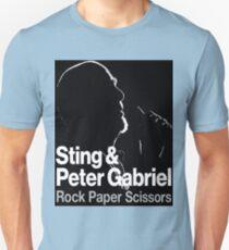 PETER GABRIEL STING PAPER SCISSORS Unisex T-Shirt