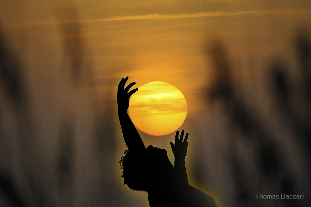 Kathy Holding Up The Sun by TJ Baccari Photography