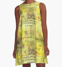 Shakespeare humorous quote  A-Line Dress