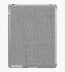 Natural Woven Silver Grey Burlap Sack Cloth iPad Case/Skin