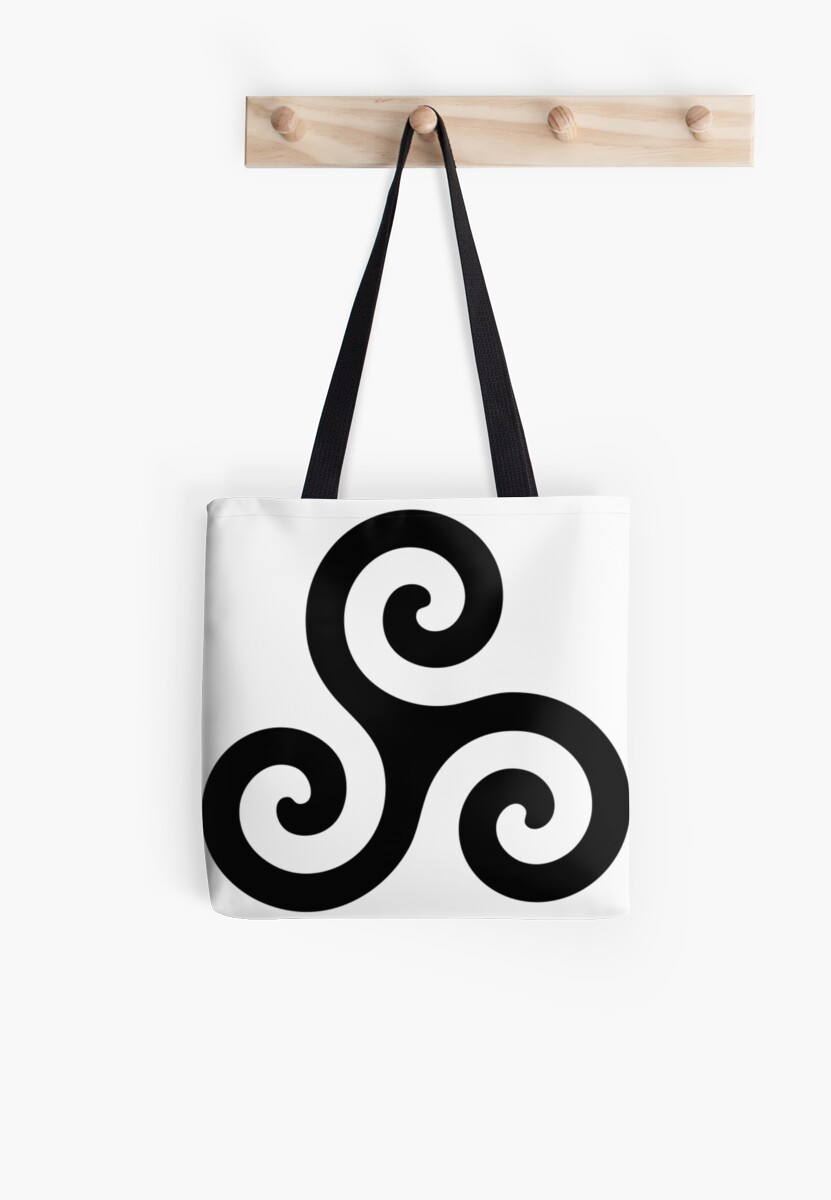 Merlin Druid Symbol Tote Bags By Fandomslikeomg Redbubble