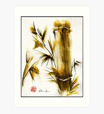 """Morning Light"" Original acrylic and ink bamboo painting. Art Print"