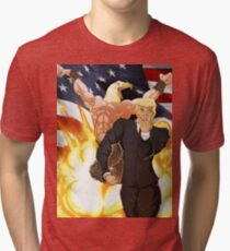 Trump's Bizarre Election - Jojo's Bizarre Adventure Trump Tri-blend T-Shirt