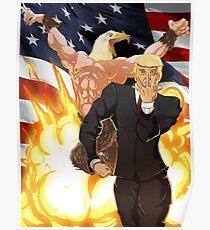 Trumps Bizarre Wahl - Jojos Bizarre Adventure Trump Poster