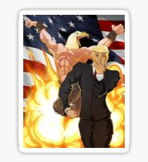 Trump's Bizarre Election - Jojo's Bizarre Adventure Trump Sticker