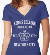 HAMILTON BROADWAY MUSICAL King's College Rechts- schule Est. 1854 Größte Stadt der Welt Shirt mit V-Ausschnitt
