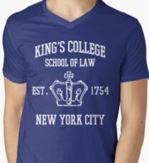 HAMILTON BROADWAY MUSICAL King's College School of Law Est. 1854 Greatest City in the World Men's V-Neck T-Shirt