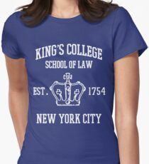 HAMILTON BROADWAY MUSICAL King's College School of Law Est. 1854 Greatest City in the World Womens Fitted T-Shirt