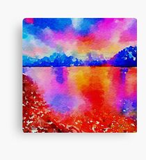 Beautiful,landscape painting,water color Canvas Print
