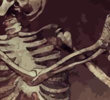 Dancing Skull + Skeleton Mosaic  Sticker