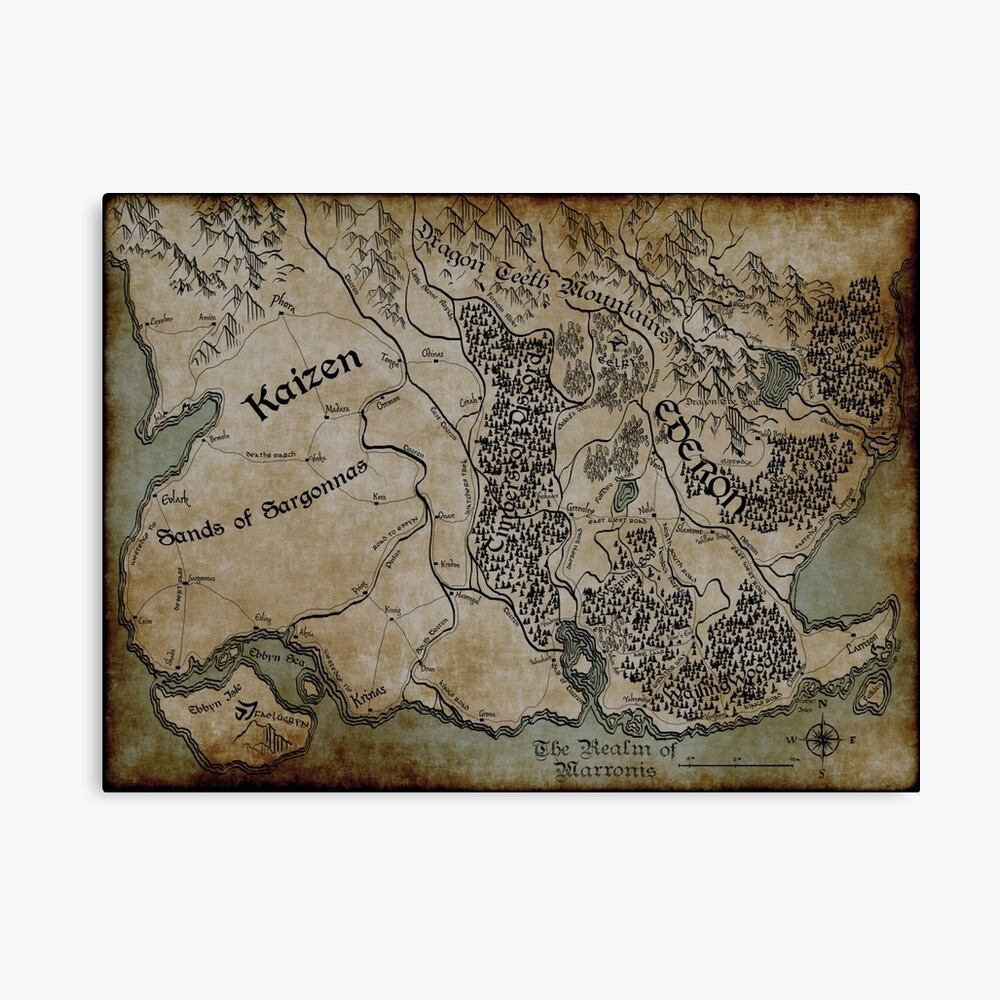 Ederon DnD Map | Canvas Print