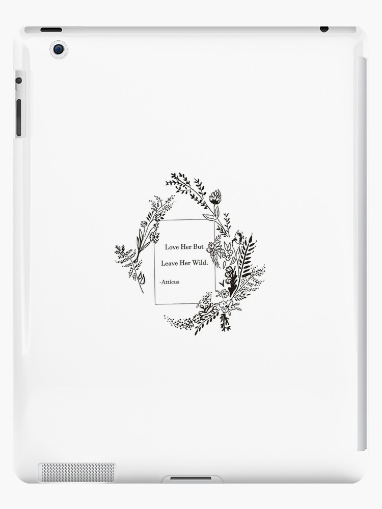 the best attitude 80dce a7702 'Wildflower Flower Quote' iPad Case/Skin by SaraLoone
