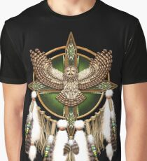 Barred Owl Native American Mandala Graphic T-Shirt