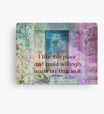 Shakespeare humorous whimsical  quote whimsical  Canvas Print