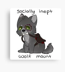 Socially Inept Wolf Mount Canvas Print
