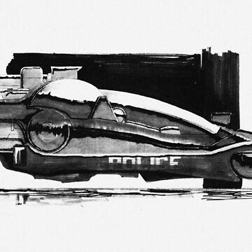 Blade Runner Police Spinner Art by p13t3rm