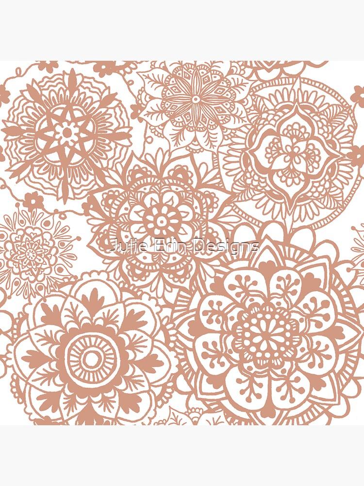 Patrón de oro rosa Mandala de julieerindesign