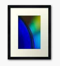 BLUE AND GREEN GRADIENT Framed Print