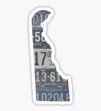 Vintage Delaware License Plates Sticker