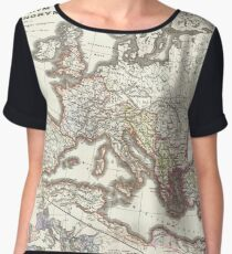Vintage Map of The Roman Empire (1865) Chiffon Top