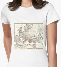 Vintage Map of The Roman Empire (1865) Womens Fitted T-Shirt